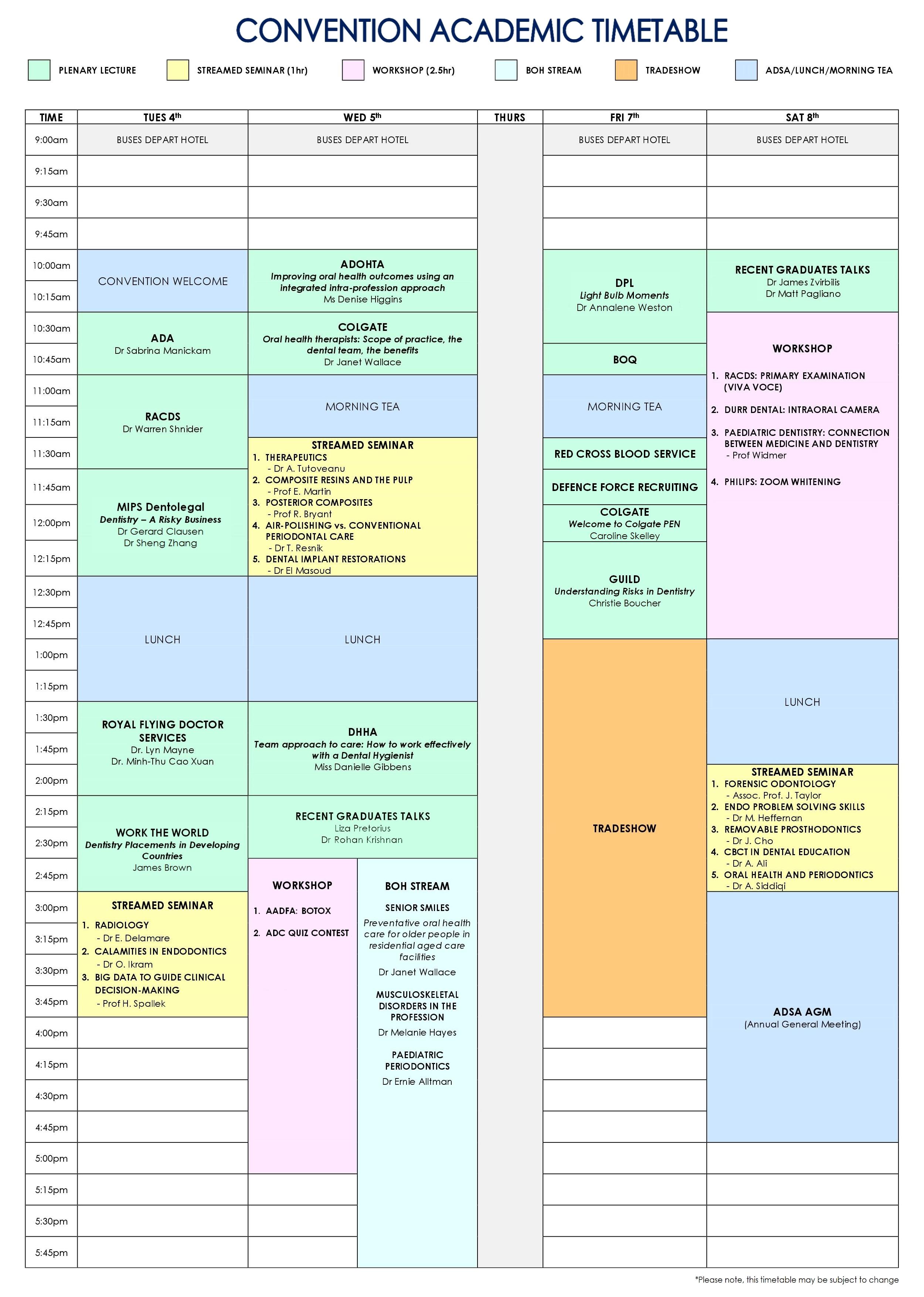 Academic Timetable